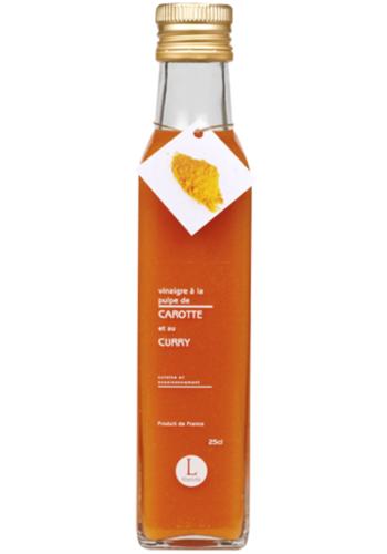 Vinaigre à la pulpe de carotte et au curry | Libeluile | 250ml