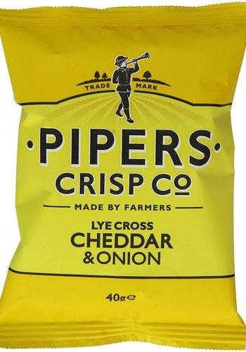 Croustilles Cheddar et oignons    Pipers  150g