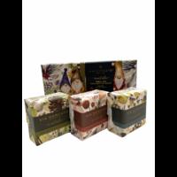Shea butter soaps  | Natale  Gnomes | Via Mercato | 3 x 50g