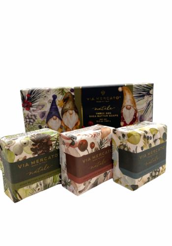 Savon beurre de karité | Natale  Gnomes | Via Mercato | 3 x 50g