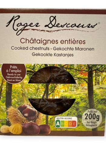 Chataîgnes entières  cuites sous vide etui | Roger Descours|200g