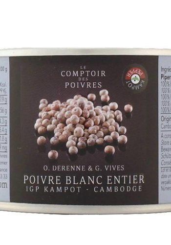 White Kampot PGI peppercorns - Cambodia 80g
