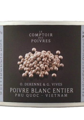 White peppercorns from Phu Quoc - Vietnam 80g