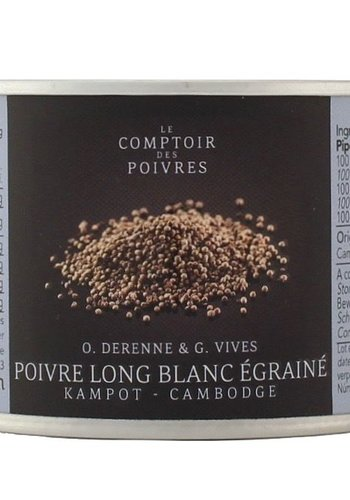 Long white seeded pepper from Kampot - Cambodia 70g