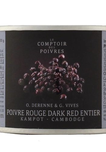 Dark Red Whole Peppercorns from Kampot Cambodia 80g