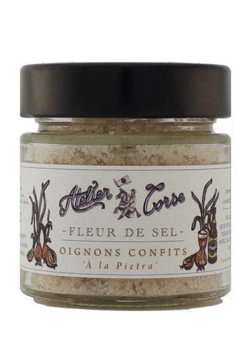 Fleur de sel oignons confits Atelier Corse 90 gr