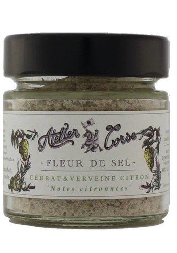 Fleur de sel Cédrat-verveine-citron Atelier Corse 90 gr