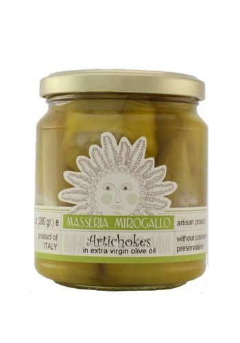 Artichauts marinés dans l'huile d'olive Masseria Mirogallo 280g