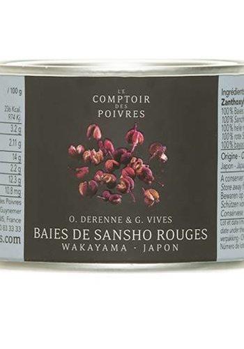 Le Comptoir des Poivres Red Sansho Berries from Wakayama Japan - 30g
