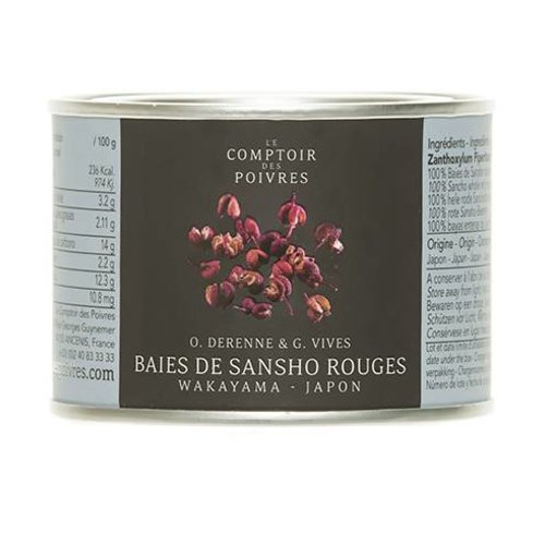 Le Comptoir des Poivres Red Sansho Berries from Wakayama Japan - 30g