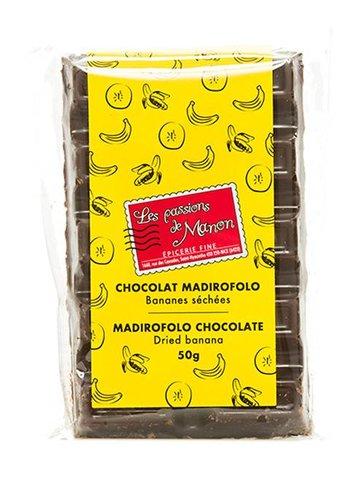 Barre de chocolat Madirofolo et bananes Les Passions de Manon  - 50g