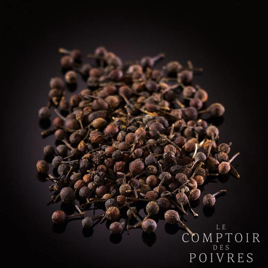 Wild black Voatsiperifery peppercorns from Madagascar