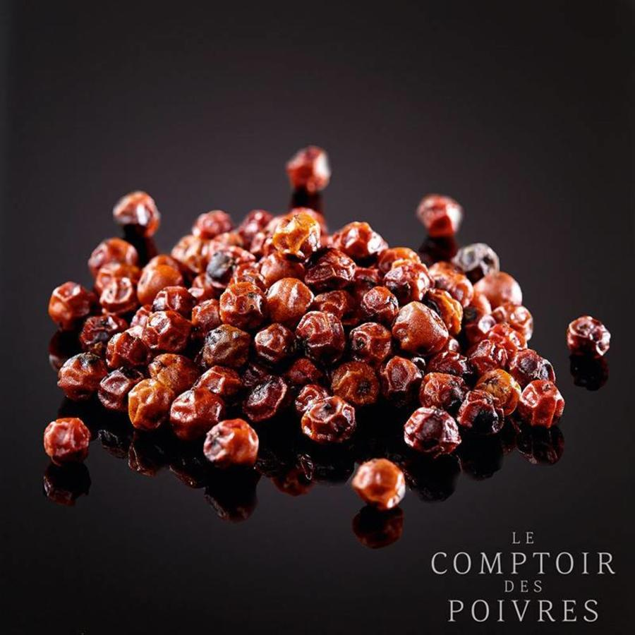 Red Kampot PGI peppercorns from Cambodia