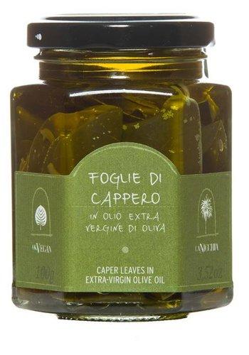 Feuilles de câpres à l'huile d'olive La Nicchia - 100g