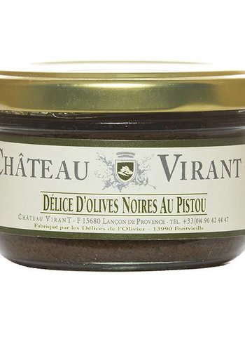 Chateau Virant Black Olives tapenade with Pesto - 90 g