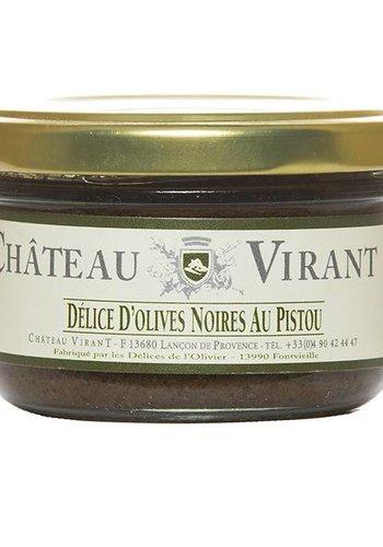 Délice d'olives noires au Pistou Château Virant - 90 g