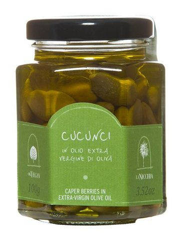 La Nicchia Caper Berries in Extra-Virgin Olive Oil - 100g