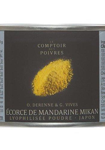 Écorce de Mandarine Mikan, Japon Le Comptoir des Poivres 50g