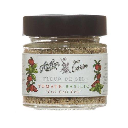 Fleur de sel  tomate et basilic Atelier Corse  - 90 gr