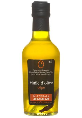 Huile d'olive biologique extra-vierge aromatisée au cèpe Oliveraie Jean Jean -  250 ml
