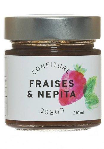Confiture Fraises & Nepita Corse 210 ml