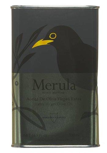Huile d'olive extra-vierge Merula boîte métallique grand format - 500 ml