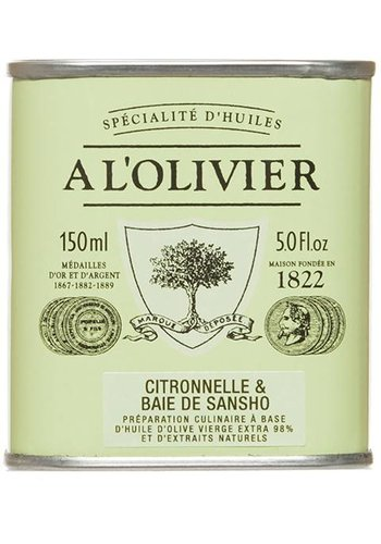 Huile d'olive Citronnelle et baie de Sansho À l'Olivier - 150ml