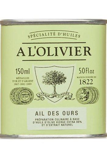Huile d'olive ail des ours À l'Olivier - 150 ml
