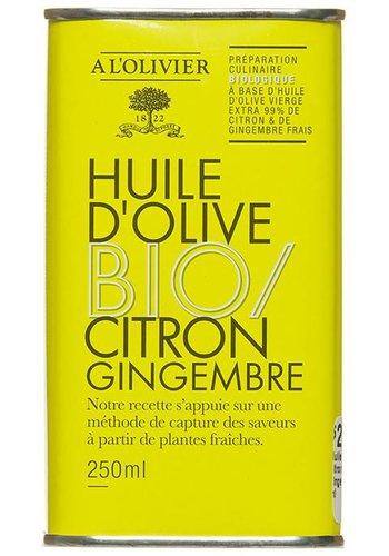Huile d'olive  Bio citron et gingembre À l'Olivier - 250 ml