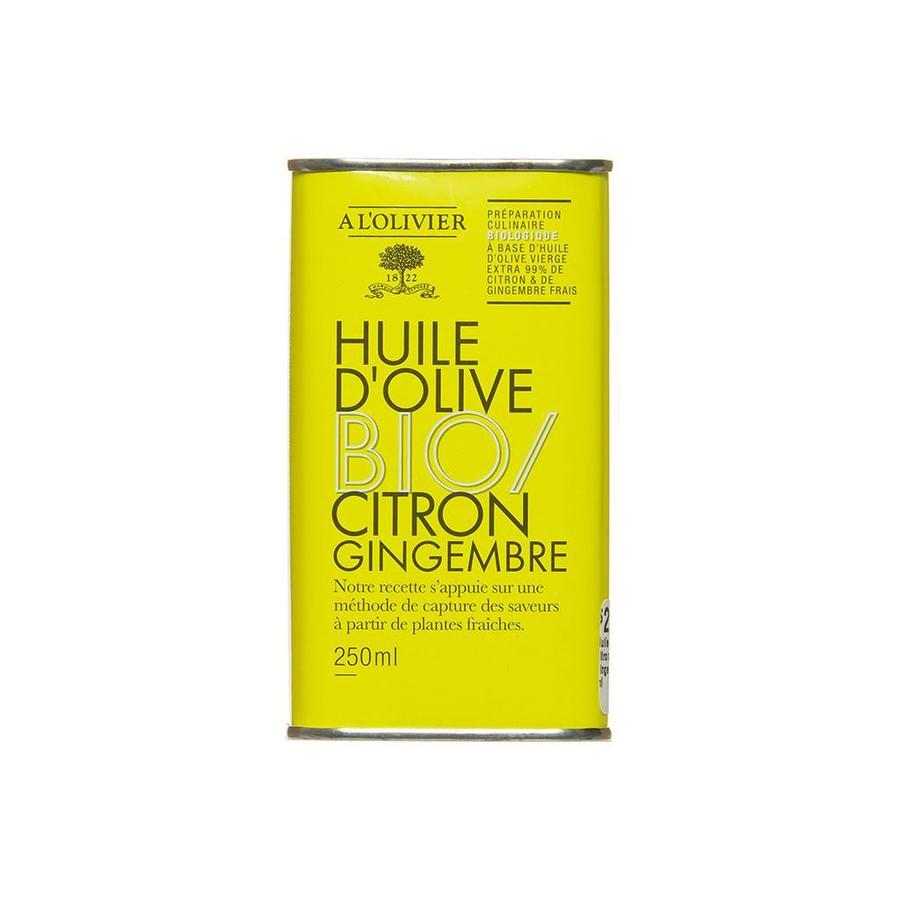 Huile d'olive  Bio citron et gingembre - 250 ml