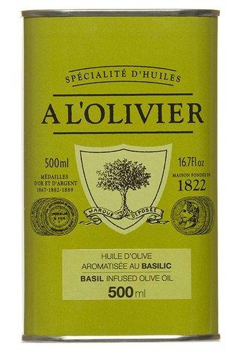 Huile d'olive au basilic À l'Olivier - 500ml