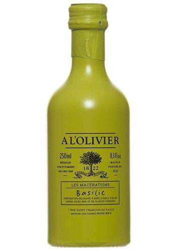 Huile d'olive Extra-Vierge au Basilic À L'Olivier- 250 ml