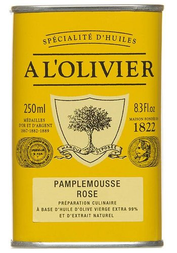 Huile d'olive Extra-Vierge au Pamplemousse Rose À l'Olivier - 250ml