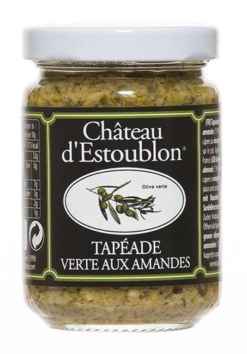 ESTOUBLON ALMONDS AND GREEN OLIVES TAPENADE 130G