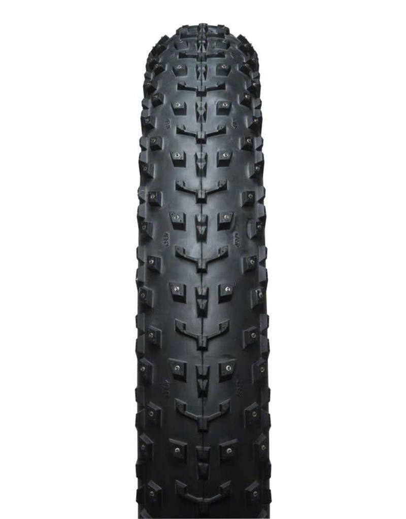 """45nrth Dillinger 5 Custom Studdable Fat Bike Tire: 26 x 4.8"""", Folding, 120tpi, Black"""