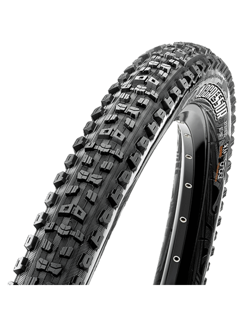 "Maxxis Aggressor Tire: 29 x 2.30"", Folding, 60tpi, Dual Compound, EXO, Tubeless Ready, Black"