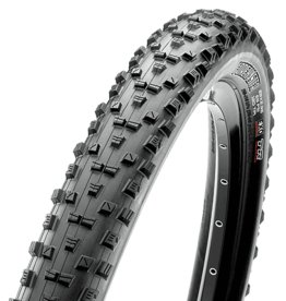 Maxxis Forekaster Tire 29 x 2.60, Folding, 60tpi, Dual Compound, EXO Protection, Tubeless Ready, Wide Trail, Black
