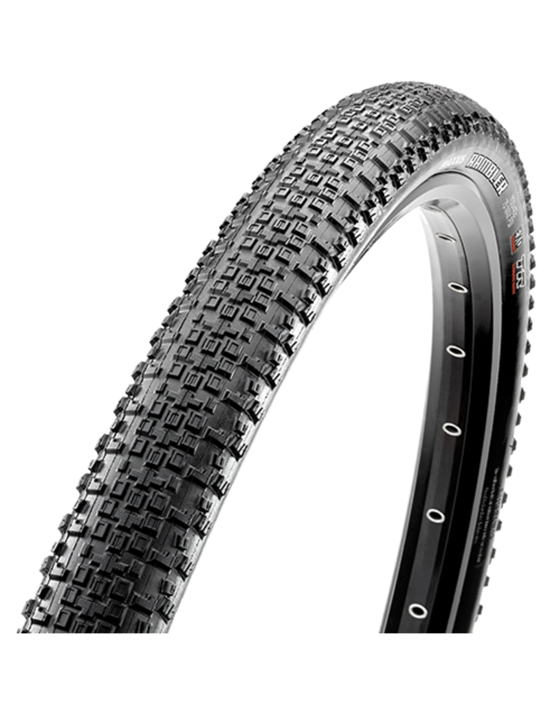 Maxxis Rambler Tire: 700 x 45mm, Folding, 120tpi Casing, Dual Compound, EXO Protection, Tubeless Ready, Black