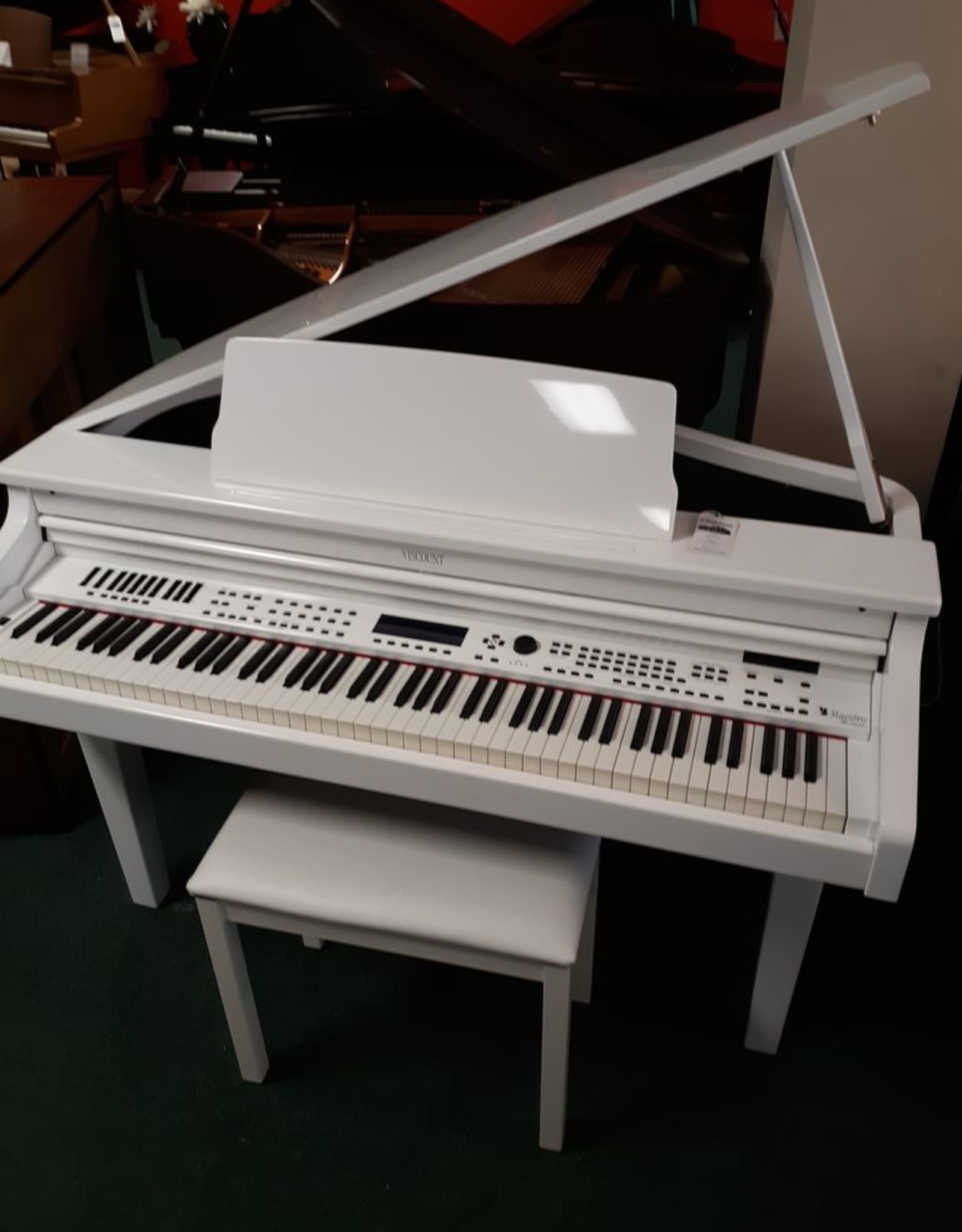 Viscount Viscount Maestro Digital Grand Piano (High Polished White) (pre-owned)