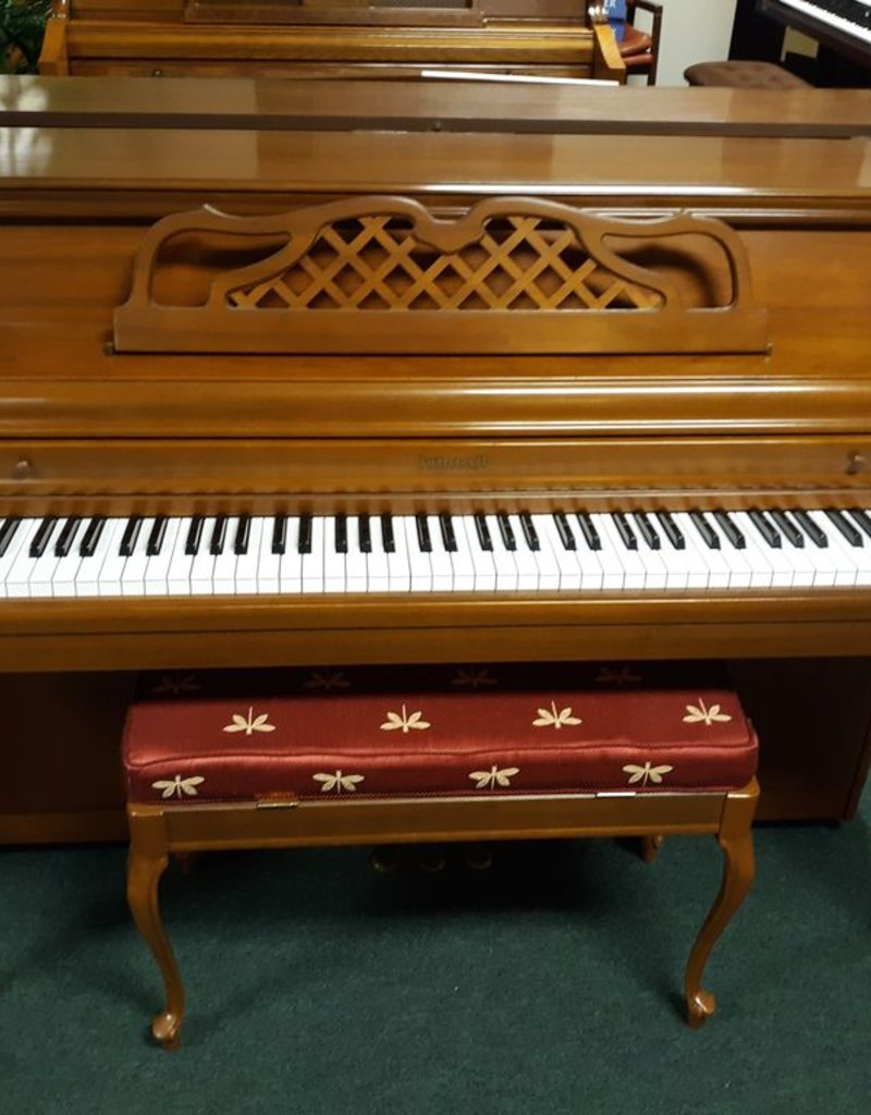 """Kimball Kimball Console 40"""" Vertical French Provincial (Walnut) (pre-owned)"""