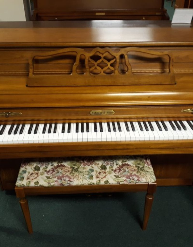 "Schafer and Sons Schafer and Sons 40"" Vertical Piano (Pecan) (pre-owned)"