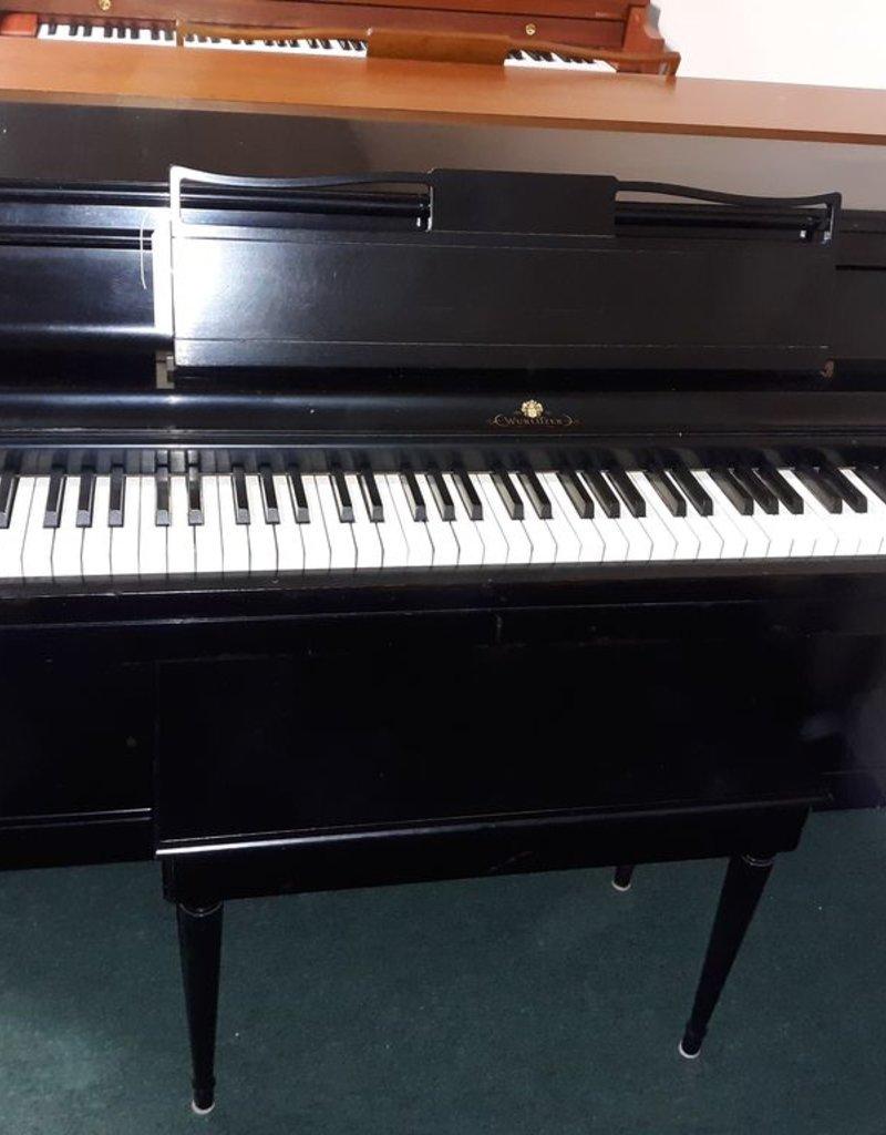 "Wurlitzer Wurlitzer Spinnet 37"" Vertical Piano (Black) (pre-owned)"