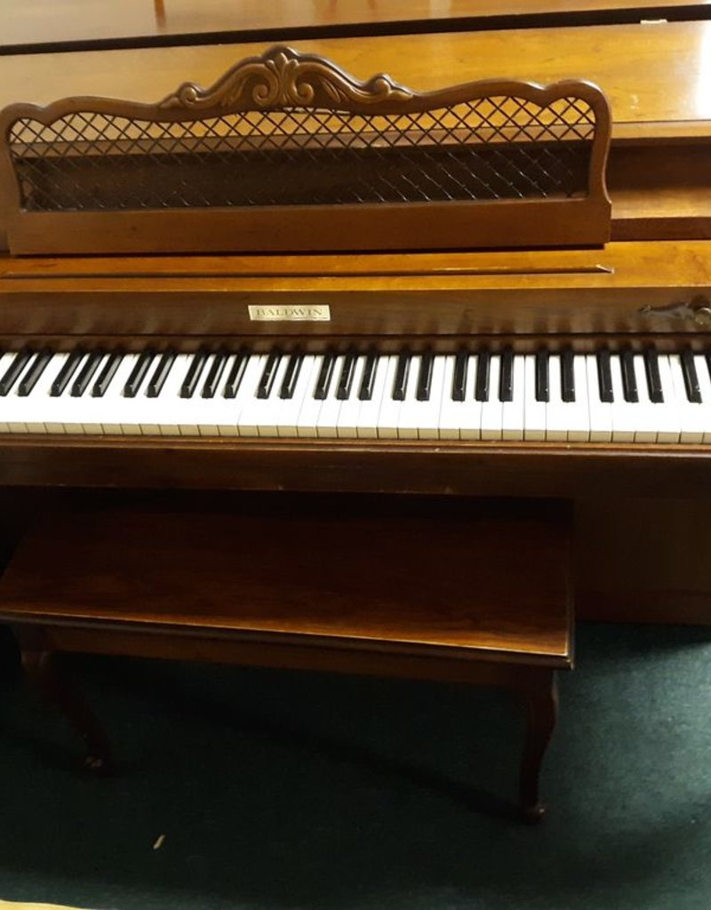 "Baldwin Baldwin 953 Acrosonic Spinet 36"" Vertical Piano French Provincial (Pecan) (pre-owned)"
