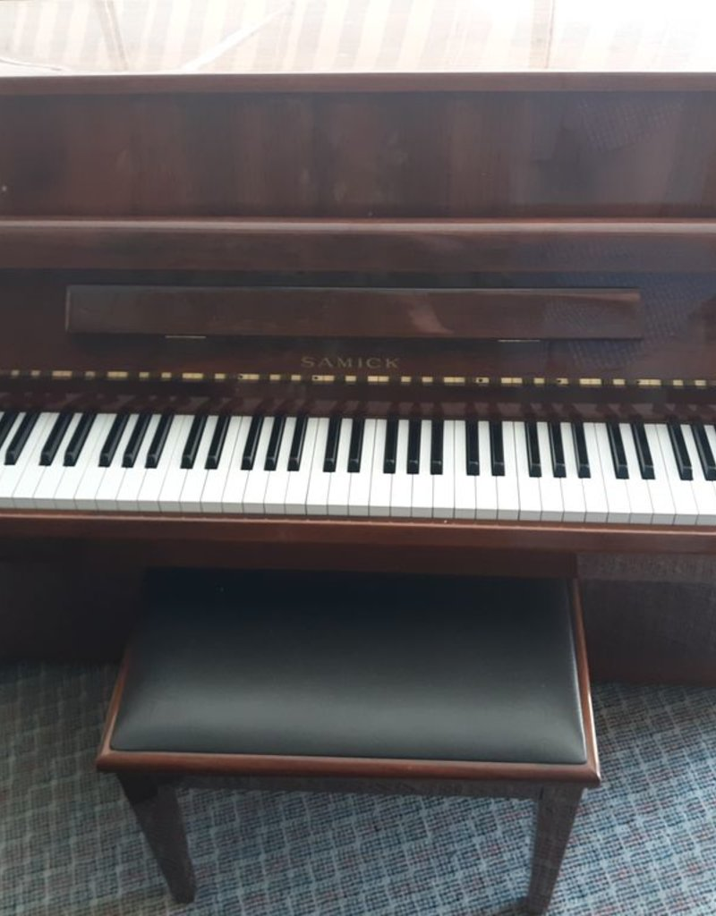 "Samick Samick SU-105 43"" Vertical Piano (High Polished Walnut) (pre-owned)"