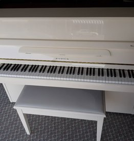 "Samick Samick SU-1080P 43"" Vertical Piano (High Polish Ivory) (pre-owned)"