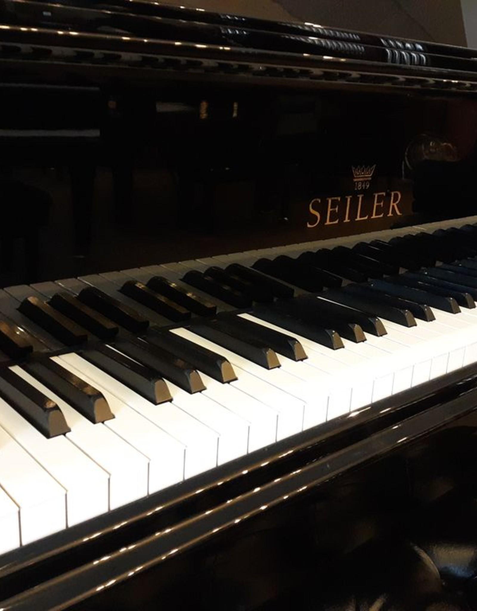 """Seiler Eduard Seiler ED-186 6'2"""" Grand Piano (High Polish Ebony with Mahogony Inner Rim)"""