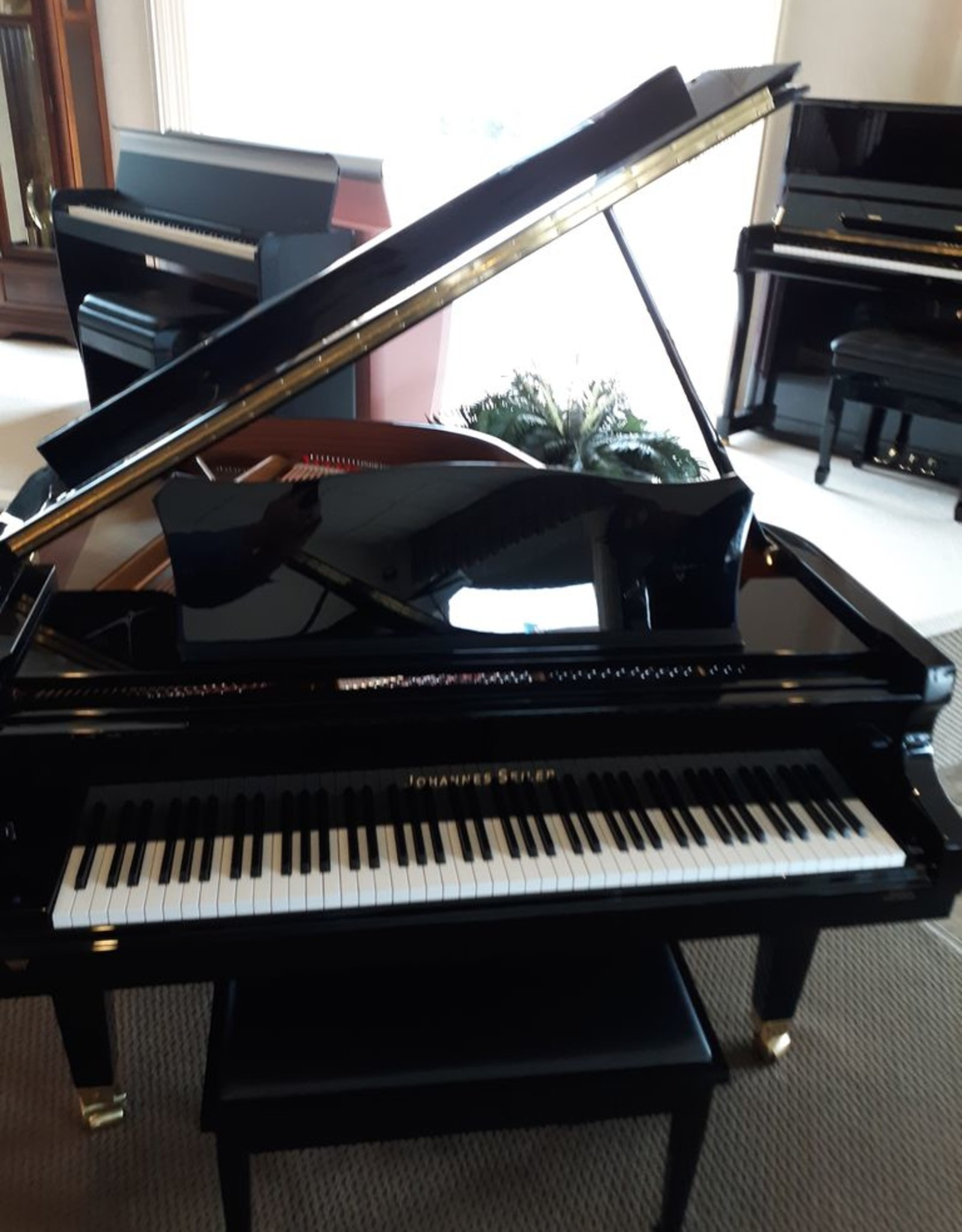 "Seiler Johannes Seiler GS-160 5'3"" Grand Piano (High Polish Ebony with Mahogony Inner Rim)"