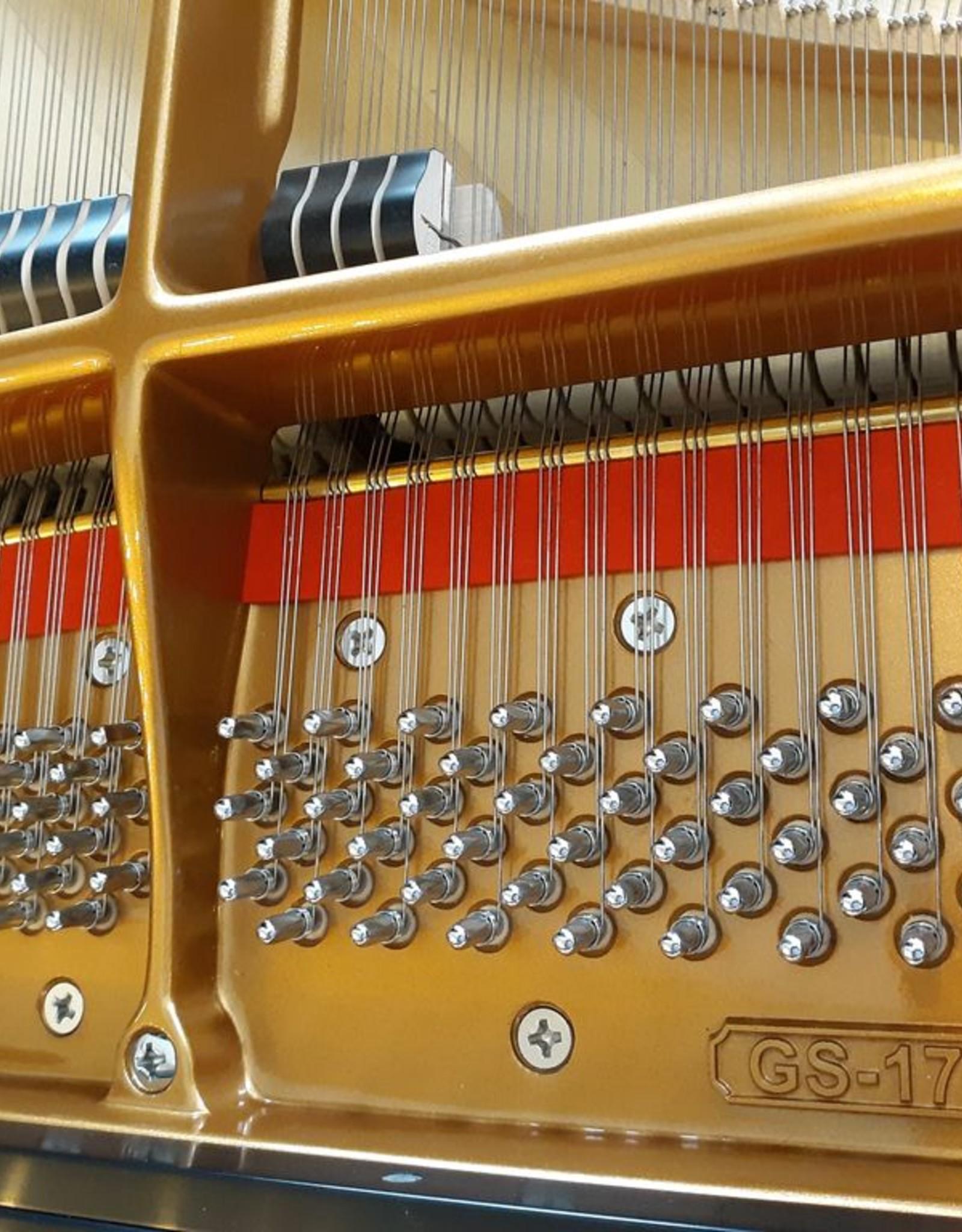 """Seiler Johannes Seiler GS-175 5'9"""" Grand Piano (Satin Ebony with Mahogony Inner Rim)"""