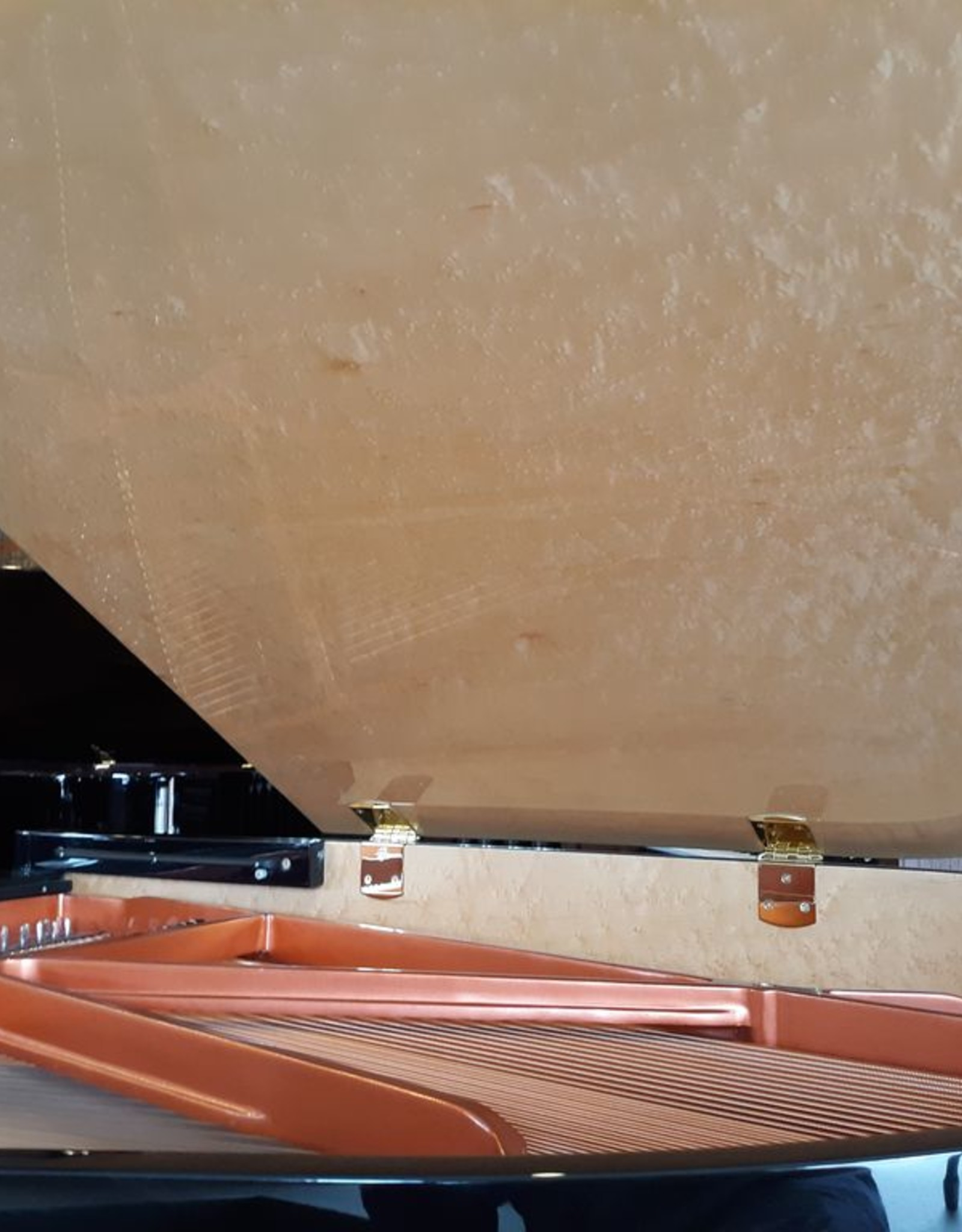 """Hallet Davis & Co. Hallet Davis & Co. HD-152/T 5'0"""" Deco Grand Piano (High Polished Ebonywith High Polish Birdseye Maple Accents, Inner Rim, and Underside of LId)"""
