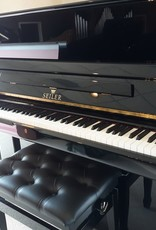 "Seiler Eduard Seiler ED-126-M Primus 49"" Vertical Piano (High Polish Ebony) (Magnetic Action)"